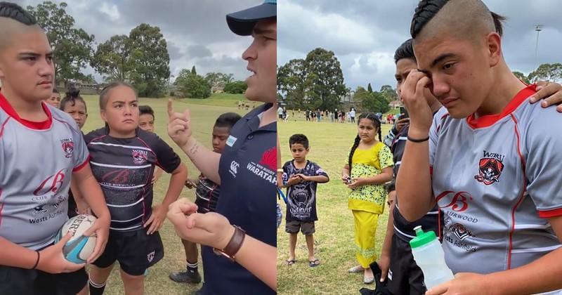 Jugé trop grand pour jouer au rugby à 11 ans, il est exclu d'un tournoi et fond en larmes