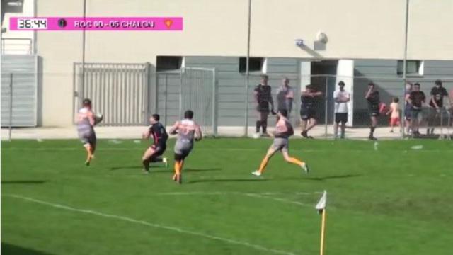 VIDEO. Fédérale 1 - L'ASRC Chalon régale avec un sublime essai de Julien Jeuvrey