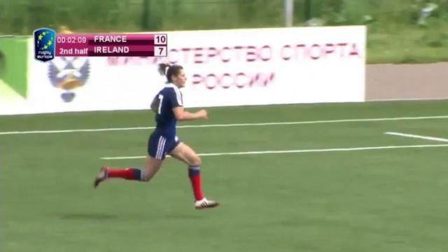 VIDEO. Rugby à 7. Caroline Ladagnous enchaîne les essais et qualifie France 7 féminines pour la Cup