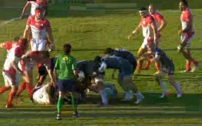Le très bel essai de Lacroix pour la victoire de Bayonne dans le derby