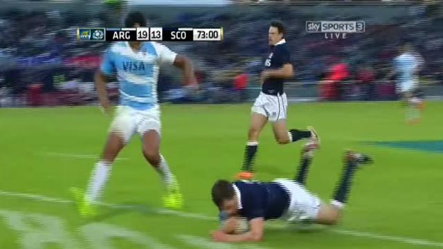 RÉSUMÉ VIDÉO. L'Écosse de Vern Cotter va chercher la victoire en Argentine au bout du suspense (19-21)