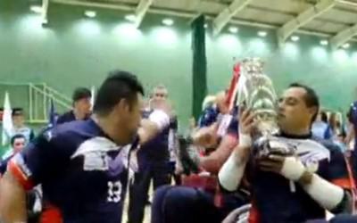 RESUME VIDEO. La Victoire de L'équipe de France de rugby à XIII en fauteuil, championne du monde face à l'Angleterre