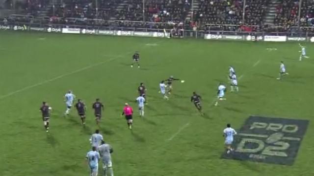 VIDEO. Pro D2. L'essai en mode Super Rugby du CSBJ lors du derby face à Lyon