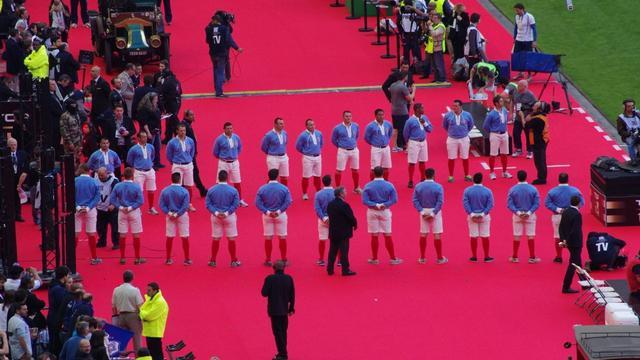 VIDEO. L'hommage rendu à l'équipe de France de 1914 avant la finale du Top 14