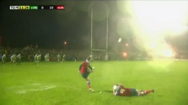 VIDEO. Pro 12 - Munster. L'incroyable coup de pied d'Ian Keatley dans des conditions climatiques dantesques
