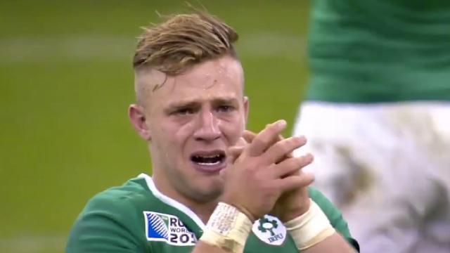 VIDÉO. L'Irlandais Ian Madigan en larmes après la victoire de son équipe contre la France