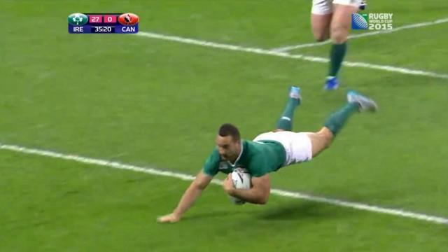 RESUME VIDEO. Coupe du monde. L'Irlande corrige le Canada avec 7 essais à la clé