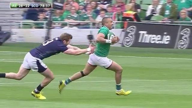 VIDÉO. L'Irlande s'impose contre l'Écosse au bout d'un match à suspense (28-22)