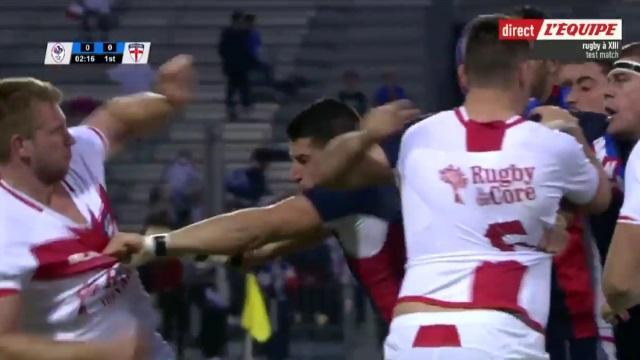 VIDEO. XIII : l'équipe de France tombe les armes à la main face à l'Angleterre (6-40)