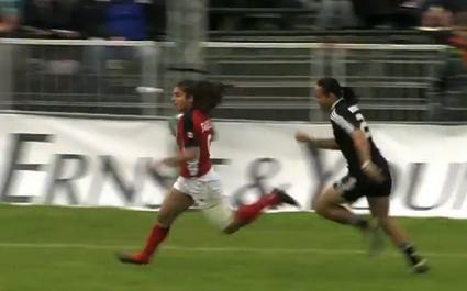 Bianca Farella dépose la défense néo-zélandaise sur 50 mètres pour l'essai