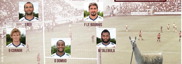 La compo de l'Union Bègles-Bordeaux... avec Serge le lama guest star