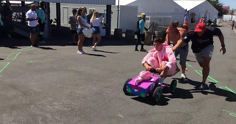 WTF - La course de Formule 1 à pédales déjantée des joueurs du SAXV [VIDEO]