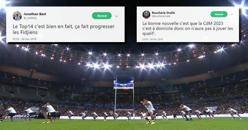 La défaite historique du XV de France face aux Fidji vue par Twitter