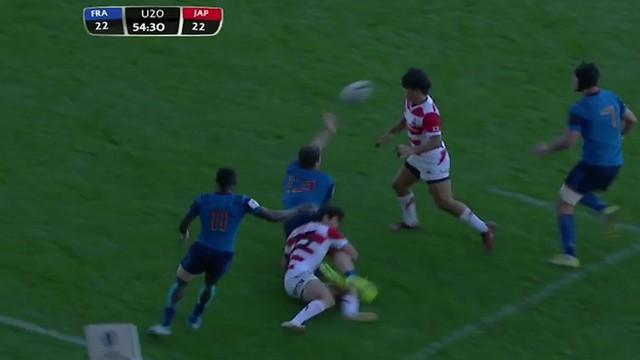RÉSUME VIDÉO. Coupe du monde U20.  La France bat difficilement le Japon (41-27)