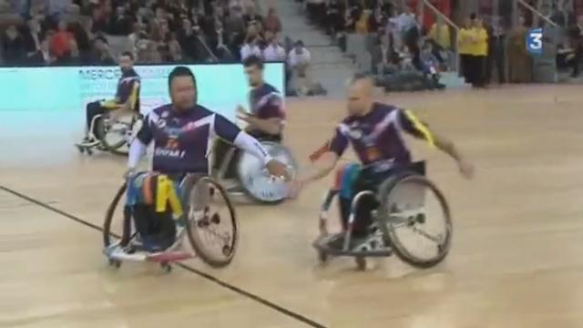 VIDEO. La France corrige son meilleur ennemi l'Angleterre en rugby-fauteuil à XIII