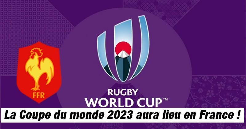 La France organisera la Coupe du monde de rugby 2023 !