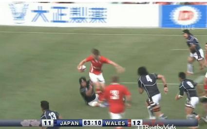 La passe acrobatique qui condamne les chances japonaises