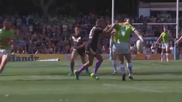 VIDEO. NRL : la chistera de l'espace de Joey Leilua pour l'essai incroyable des Canberra Raiders