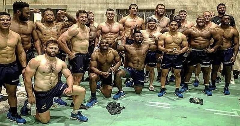Coupe du monde - La photo des Springboks bodybuildés choquent les internautes