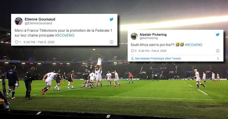 La tempête, véritable star du match entre l'Ecosse et l'Angleterre sur les réseaux sociaux