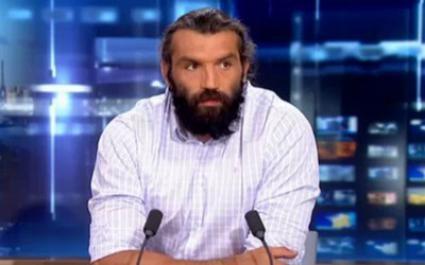 La tristesse de Chabal dans le JT de TF1