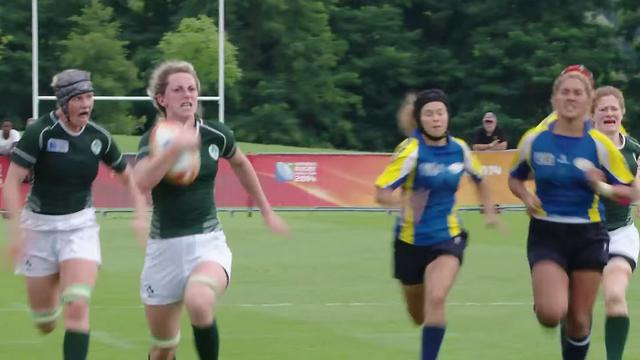 VIDEO. Coupe du monde de rugby féminin. La troisième ligne Siobhan Fleming fait le sprint de sa vie dans le Top des essais de la troisième journée