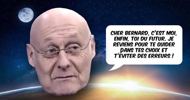 WTF - Bernard Laporte reçoit la visite de son lui du futur pour le mettre en garde