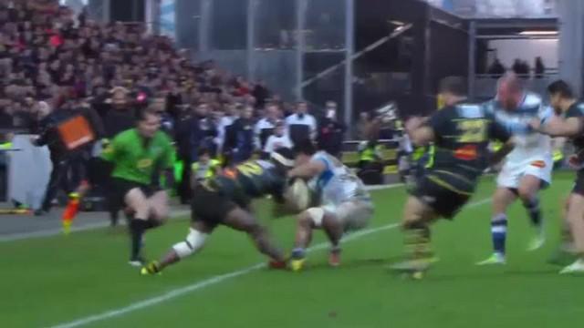 VIDEO. Top 14 - La Rochelle. Levani Botia stoppe Alex Tulou avec un gros bouchon