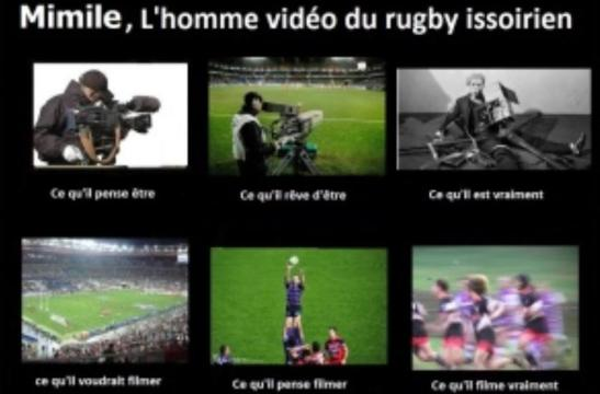 Rugby Amateur - Issoire : Emilien Pélissier, homme-vidéo officiel (185 x140)
