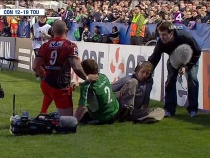 Le Caméraman se pète la guibole lors de Toulon vs Connacht