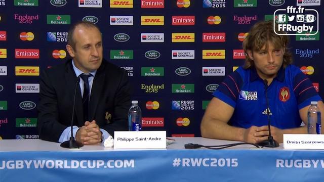 VIDEO. Coupe du monde. Les réactions à chaud de Twitter et de Philippe Saint-André après France - Roumanie