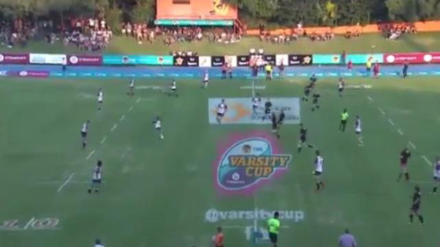 VIDEO. Afrique du Sud : un drop de mammouth inscrit à plus de 55 mètres lors d'un match universitaire
