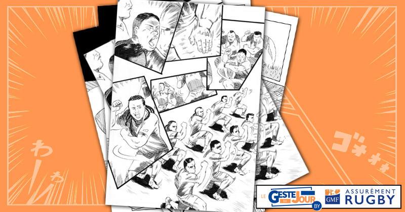 Le geste du jour en Manga : le premier Siva Tau des Samoa dans cette Coupe du monde !