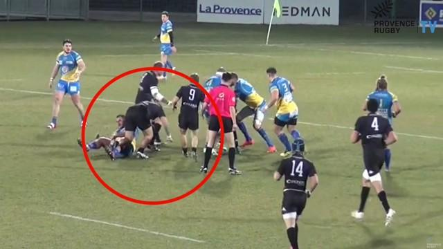 "VIDEO. Fédérale 1 - Provence Rugby. Le geste technique de Teva Make, le ""blessage tout seul"""