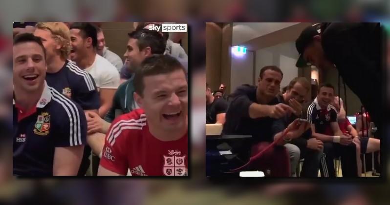 VIDEO. Le jour où Zebo a été ''puni'' par les Lions pour avoir fait une blague à Conor Murray