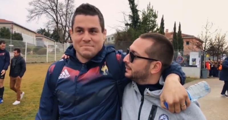 VIDÉO. Insolite : quand Bengous, supporter de l'OM, découvre le rugby... avec les joueurs du XV de France !
