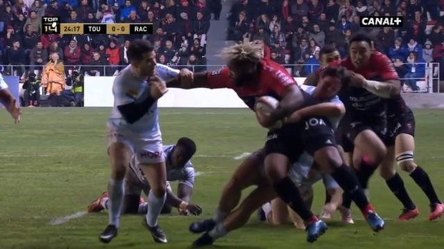 VIDEO. Top 14 - Toulon. Les déboulés surpuissants de Mathieu Bastareaud face au Racing 92