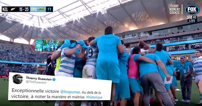 Le monde du rugby salue la victoire historique des Pumas sur les All Blacks