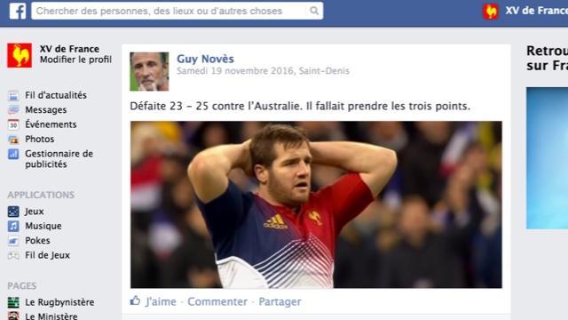 Le mur Facebook du XV de France de Guy Novès, épisode 7