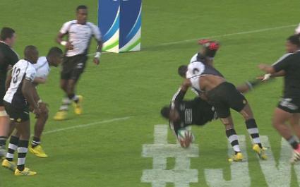Coupe du monde - 20 ans : Les deux cartons rouges fidjiens contre les Baby Blacks