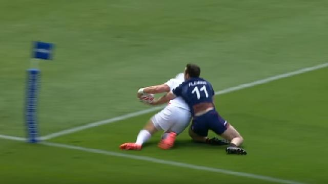 VIDEO. WELLINGTON 7S: Le sauvetage incroyable de l'écossais James Fleming face à l'Angleterre