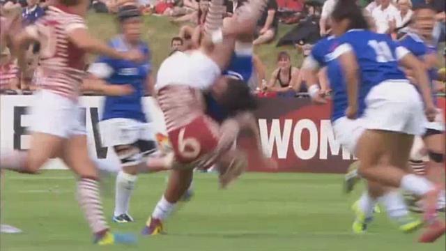 VIDEO. Soteria Pulumu confond rugby et catch pour un plaquage destructeur sur Natasha Hunt