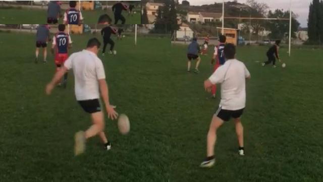 VIDEO. INSOLITE : Un rugbyman amateur bat le record du monde de drops de Drew Mitchell
