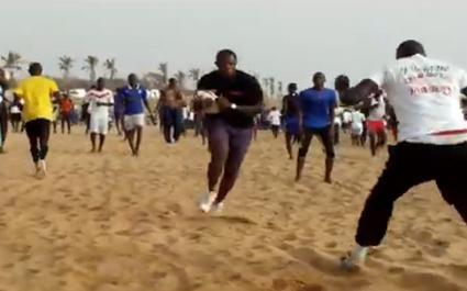 VIDEO. Dans la peau d'un joueur de rugby au Sénégal