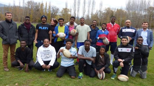 PHOTOS. Amateur : les migrants découvrent le rugby avec le Rugby Club Dignois