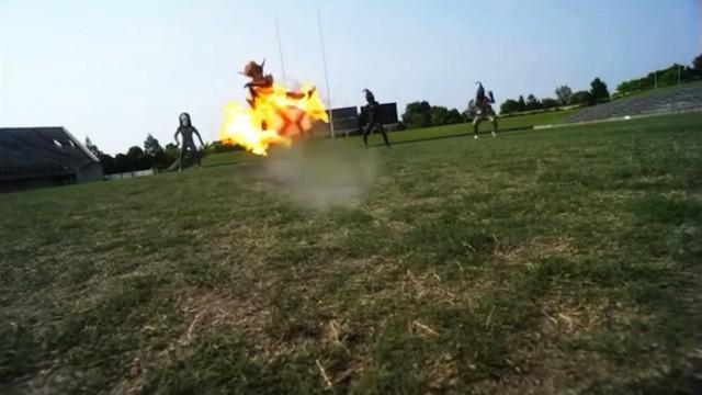 VIDEO. INSOLITE. Le rugby à la sauce nippone dans Ultraman X