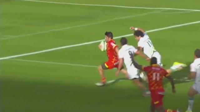 VIDEO. Pro D2. Section Paloise - USAP. Le sauvetage incroyable d'Elijah Niko sur Jonathan Bousquet devant l'en-but