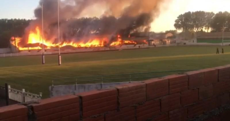 VIDEO. Rugby à XIII - Lézignan. Le stade du moulin ravagé par un violent incendie