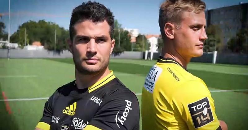 VIDEO. Dulin et Plisson jouent les mannequins pour présenter les nouveaux maillots du Stade Rochelais