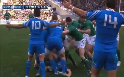 O'Driscoll cité pour son stamping sur Favaro